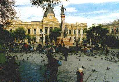 La Paz Plaza Murillo with good weather