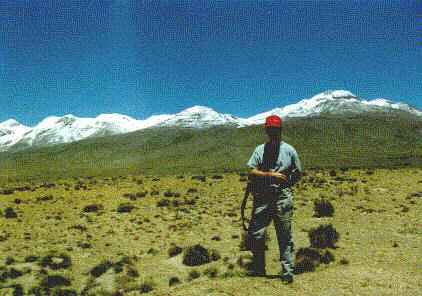 This is me, somewhere in the Andes